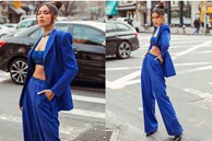 Minh Tú mặc crop-top siêu bé khoe vòng một và eo thon nóng bỏng tại Mỹ