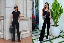 Cùng 1 chiếc quần: Hà Tăng mặc đẹp đã đành, đến vợ Đăng Khôi mới phải trầm trồ về khả năng
