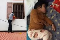 Vào phòng chốt cửa rồi lăn ra ngủ, cô bé hơn 3 tuổi khiến bố phải vác thang, trèo lên mái nhà để vào trong