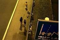 Tìm thân nhân người đàn ông nhảy từ cầu vượt xuống đường cao tốc ở Hải Phòng, thiệt mạng