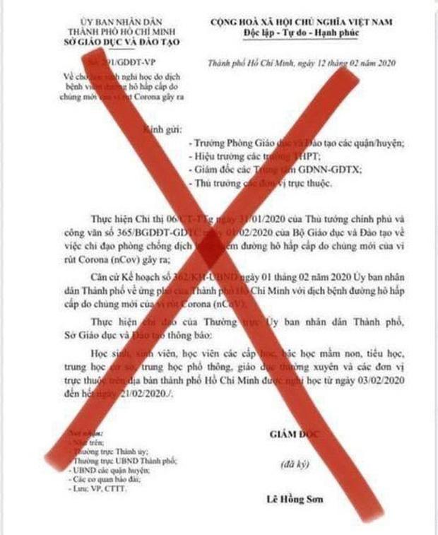 Văn bản thông báo nghỉ học đến 21/2 là giả mạo, Sở GD-ĐT TP.HCM vẫn đang chờ ý kiến chỉ đạo cho học sinh đi học lại-2