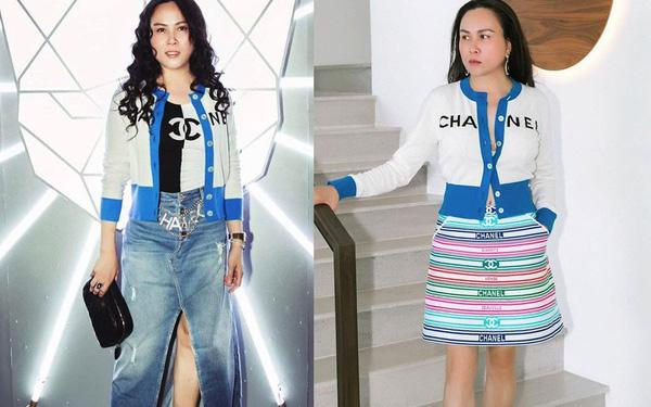 Hàng trăm lần mix hàng hiệu lạc quẻ, hình như Phượng Chanel có thù truyền kiếp với chân váy?-9