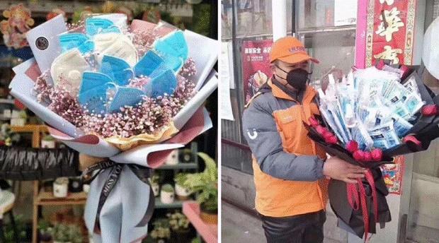 Valentine giữa dịch virus corona: Hàng triệu cặp đôi bật chế độ yêu xa, chùm hoa khẩu trang trở thành món quà trendy hàng đầu-2