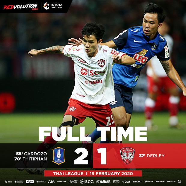 VAR 4 lần can thiệp, CLB của Văn Lâm cay đắng chịu cảnh từ thắng thành thua trước tân binh Thai League 1-1