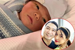 Mới gần 3 tháng tuổi, con trai siêu mẫu Lan Khuê đã được