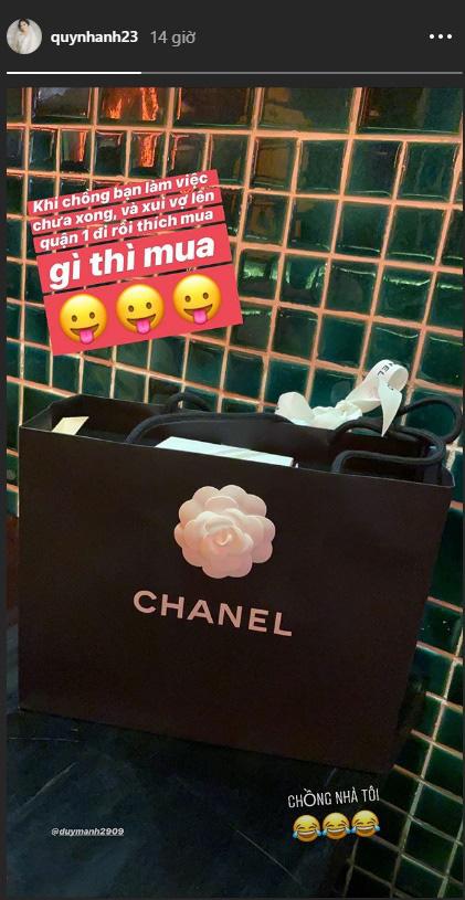 Sau sự cố lộ ảnh như bà thím lúc ở nhà, Quỳnh Anh lập tức được Duy Mạnh đưa đi shopping tút lại phong độ?-2