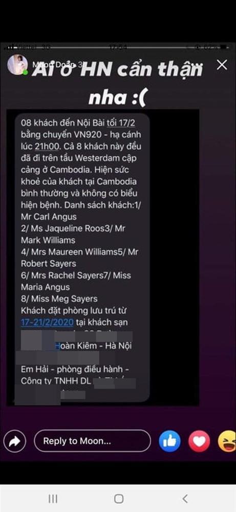 Sự thật thông tin 8 hành khách trên du thuyền MS Westerdam đã đến Hà Nội vào tối nay-1