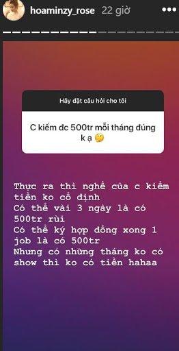 Khẳng định kiếm được 500 triệu/ tháng, bảo sao kho đồ hiệu của Hòa Minzy không siêu to không lồ-1