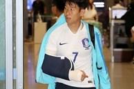 Xót xa khoảnh khắc 'oppa' Son Heung-min nén đau dù bị gãy tay, cố gắng nén lại sân để tri ân khán giả