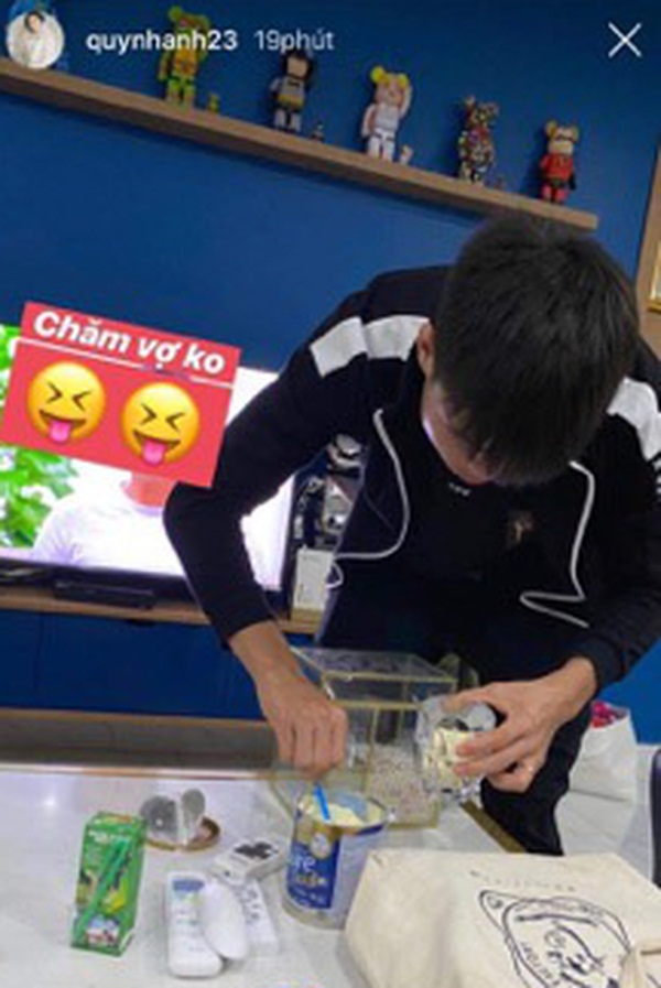 Duy Mạnh tự tay pha sữa cho Quỳnh Anh uống: Chồng người ta chưa bao giờ làm chị em thất vọng-1