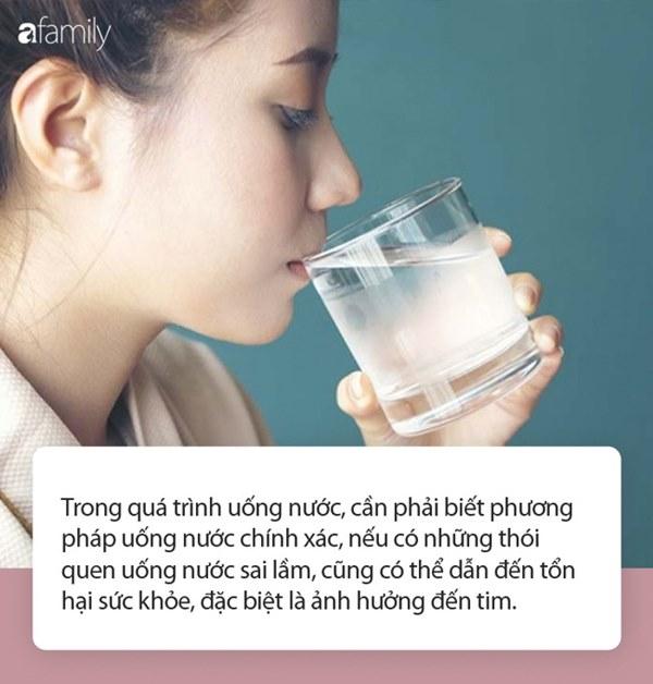 3 thói quen khi uống nước không chỉ ảnh hưởng thận mà còn khiến tim bị suy yếu-1