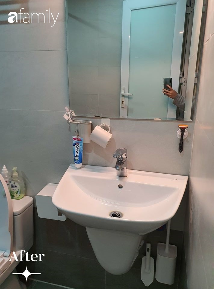 Cuộc cải tổ cho căn hộ 75m² với chi phí 350 triệu đồng, mẹ đảm ở Hà Nội khiến ai cũng công nhận nhà vừa đẹp vừa sang-12