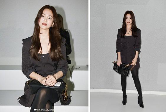 Nghịch lý Song Hye Kyo khi dự Fashion Week: Nhan sắc ngày một đỉnh nhưng style thì lại nhạt dần đều-1