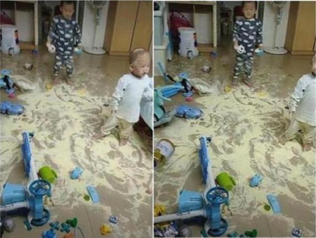 Dặn chồng ở nhà pha sữa cho con, sau 2 tiếng trở về vợ suýt ngất khi nhìn bãi chiến trường trước mắt-1