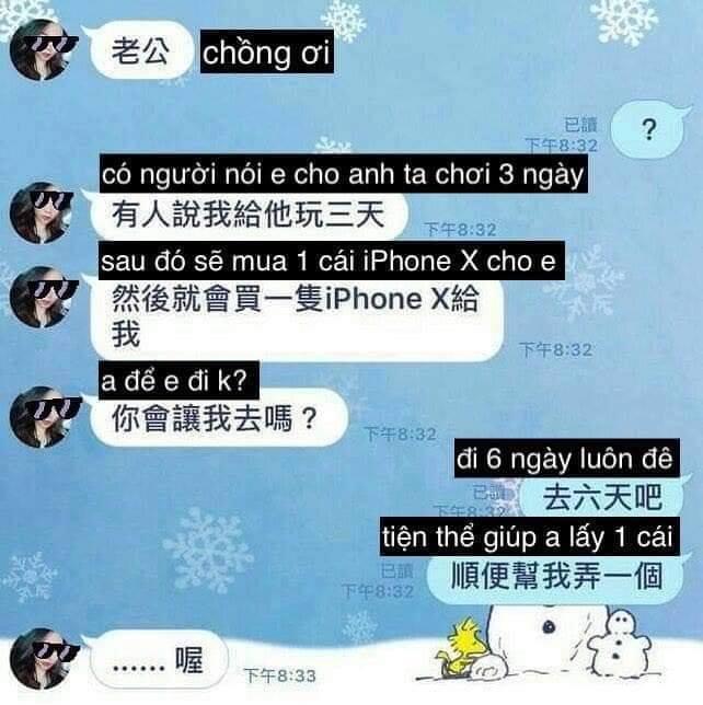 Anh chồng phũ hơn cả người yêu cũ: Vợ khoe trai lạ rủ chơi 3 ngày tặng iPhone X, dửng dưng đáp trả 1 câu nghe lộn mề-1