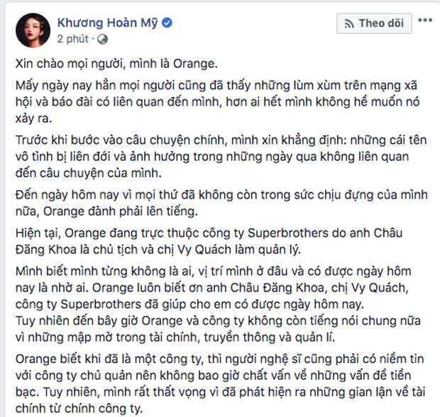 Phát hiện Châu Đăng Khoa tung status ẩn ý chuyện vô ơn, hai mặt trước khi bị Orange và Lyly đồng loạt tố-2