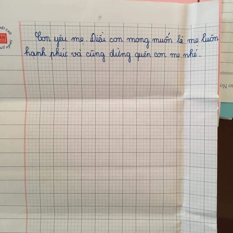 Được yêu cầu viết thông điệp gửi một người lớn, học sinh lớp 5 khiến mọi người bật khóc: Con mong mẹ hiểu, mẹ còn đứa con gái đang sống cùng bà nội-3