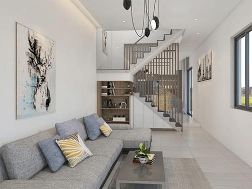 Đón đầu xu hướng với 15 mẫu phòng khách nhà ống 4m đẹp xuất sắc-3