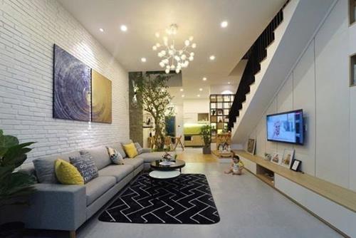 Đón đầu xu hướng với 15 mẫu phòng khách nhà ống 4m đẹp xuất sắc-5
