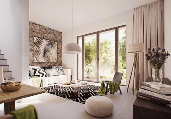 Đón đầu xu hướng với 15 mẫu phòng khách nhà ống 4m đẹp xuất sắc-7