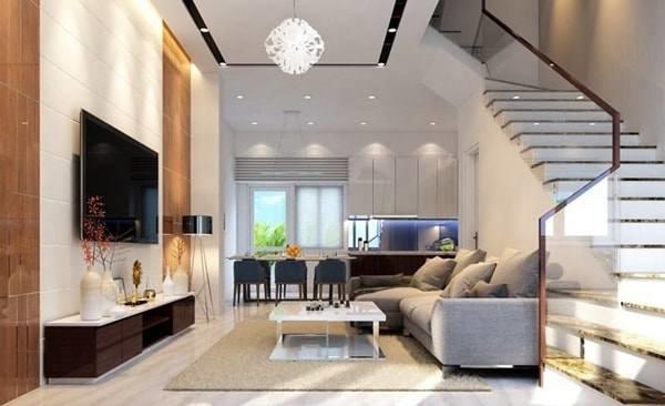 Đón đầu xu hướng với 15 mẫu phòng khách nhà ống 4m đẹp xuất sắc-8