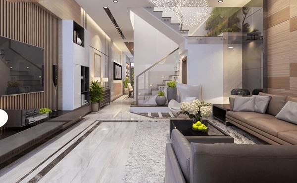 Đón đầu xu hướng với 15 mẫu phòng khách nhà ống 4m đẹp xuất sắc-9