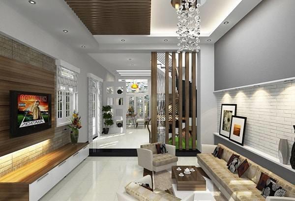Đón đầu xu hướng với 15 mẫu phòng khách nhà ống 4m đẹp xuất sắc-13