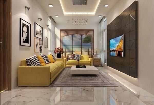 Đón đầu xu hướng với 15 mẫu phòng khách nhà ống 4m đẹp xuất sắc-14