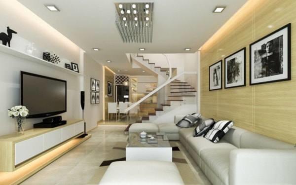 Đón đầu xu hướng với 15 mẫu phòng khách nhà ống 4m đẹp xuất sắc-15
