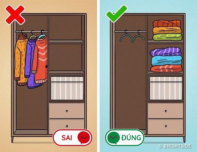 8 lỗi sai mà ai cũng làm khi cất quần áo vào tủ, lấy ra nhàu nhĩ như giẻ lau-3