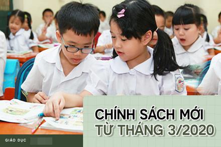 Hàng loạt quy định mới về giáo dục có hiệu lực thi hành từ tháng 3/2020