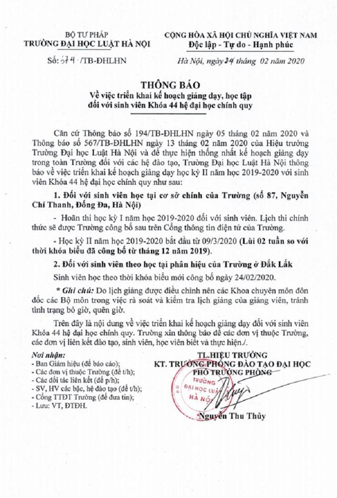 Ngày 28/2: Danh sách 26 trường đại học, cao đẳng quyết định lùi thời gian nhập học để phòng dịch-1