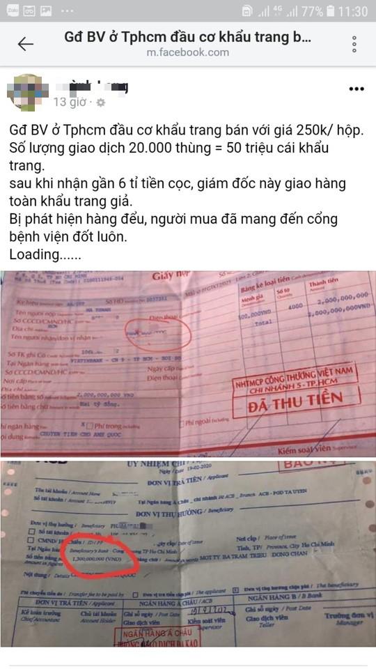Công an điều tra vụ Giám đốc bệnh viện Gò Vấp bị tố trục lợi khẩu trang-2