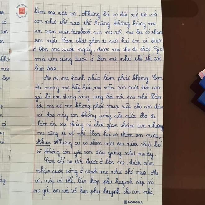 Sự thật về lá thư của học sinh lớp 5 đang gây bão mạng Con mong mẹ hiểu, mẹ còn đứa con gái đang sống cùng bà nội-2