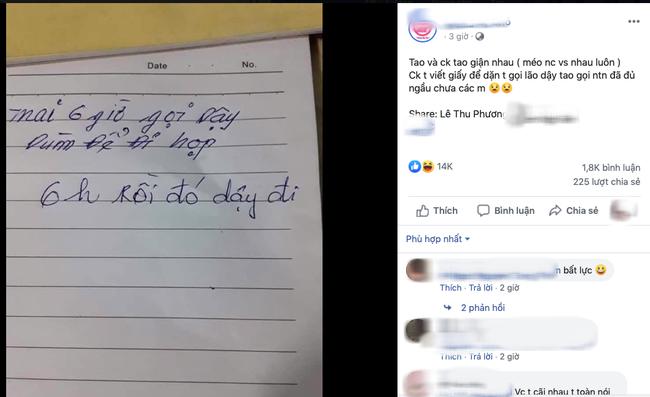 Vợ chồng cãi nhau không nói chuyện, chồng để lại mảnh giấy nhờ vả thì vợ có câu trả lời khiến tất cả choáng váng-1