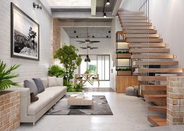 Các mẫu cầu thang nhà ống 5m tối giản mà hiện đại cho ngôi nhà của bạn-4