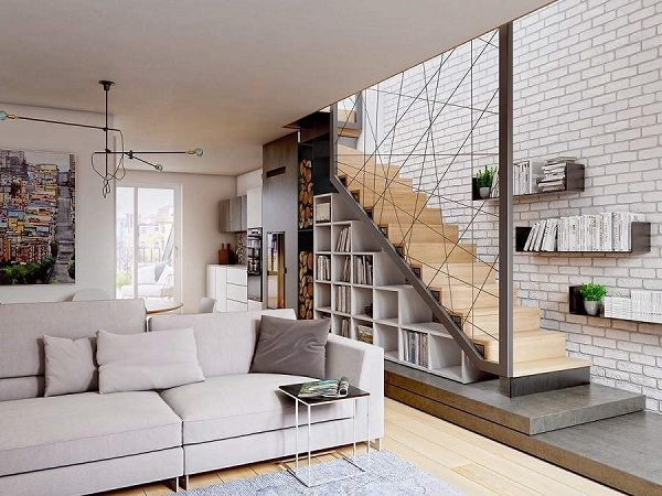 Các mẫu cầu thang nhà ống 5m tối giản mà hiện đại cho ngôi nhà của bạn-5