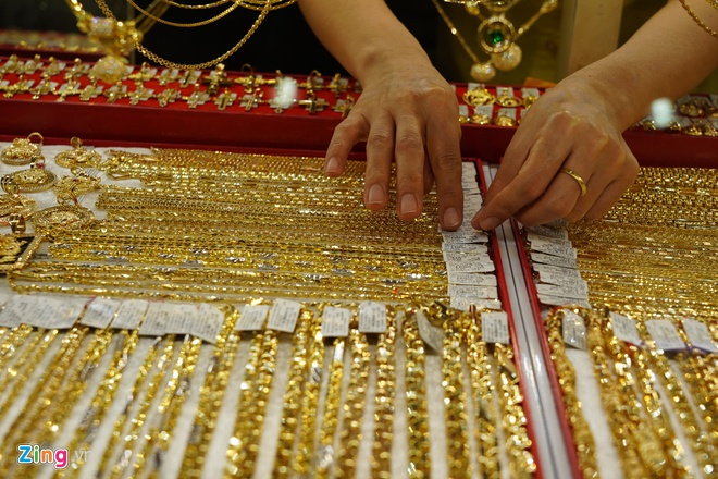Giá vàng trong nước bật tăng trở lại-1