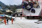 Chuyên gia lý giải hiện tượng mưa đá to bằng viên bi phủ trắng như tuyết trên đường ở Lai Châu-2