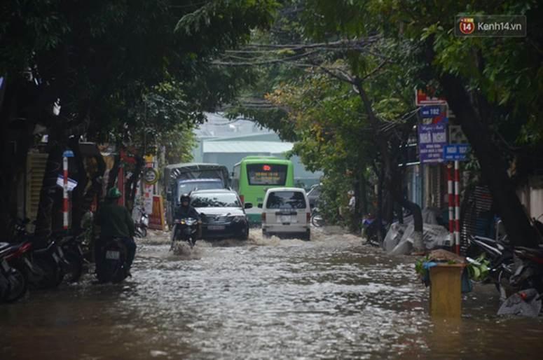 Hà Nội: Nhiều tuyến phố ngập nghiêm trọng, cây xanh bật gốc đổ ngang đường sau cơn mưa như trút nước-1