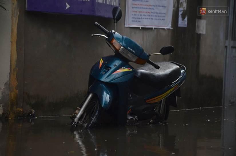 Hà Nội: Nhiều tuyến phố ngập nghiêm trọng, cây xanh bật gốc đổ ngang đường sau cơn mưa như trút nước-2