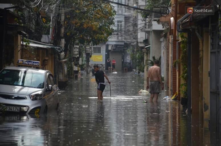 Hà Nội: Nhiều tuyến phố ngập nghiêm trọng, cây xanh bật gốc đổ ngang đường sau cơn mưa như trút nước-4
