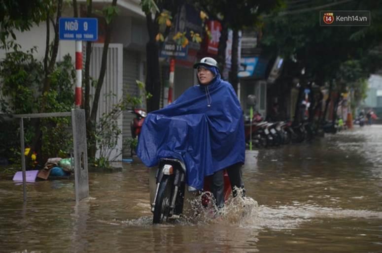 Hà Nội: Nhiều tuyến phố ngập nghiêm trọng, cây xanh bật gốc đổ ngang đường sau cơn mưa như trút nước-5