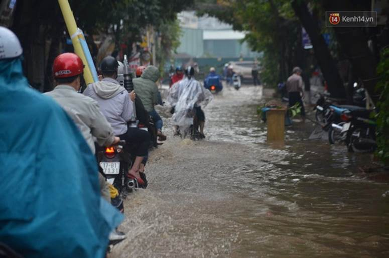 Hà Nội: Nhiều tuyến phố ngập nghiêm trọng, cây xanh bật gốc đổ ngang đường sau cơn mưa như trút nước-13