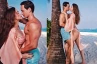 Hồ Ngọc Hà và Kim Lý tình tứ trên bãi biển