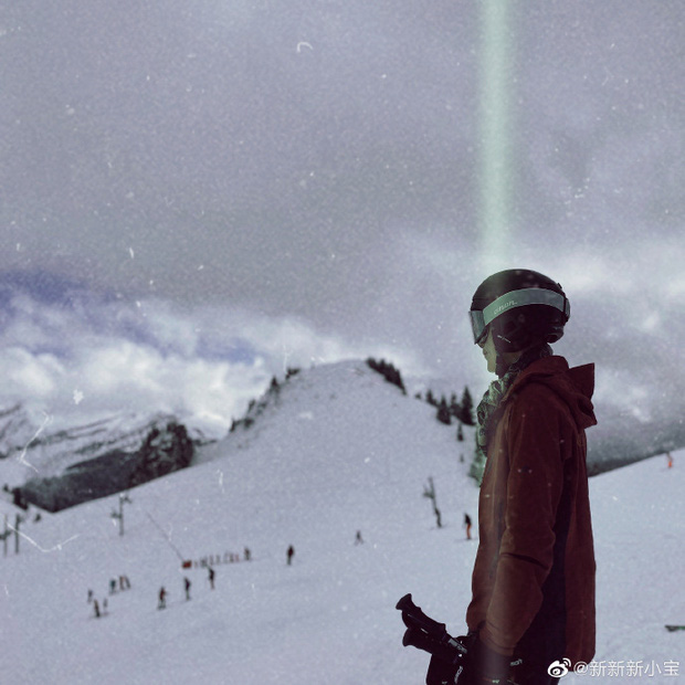 Con trai Triệu Vy khoe ảnh gia đình đi trượt tuyết, để lộ chi tiết làm dấy nghi vấn cha mẹ đã ly hôn-2