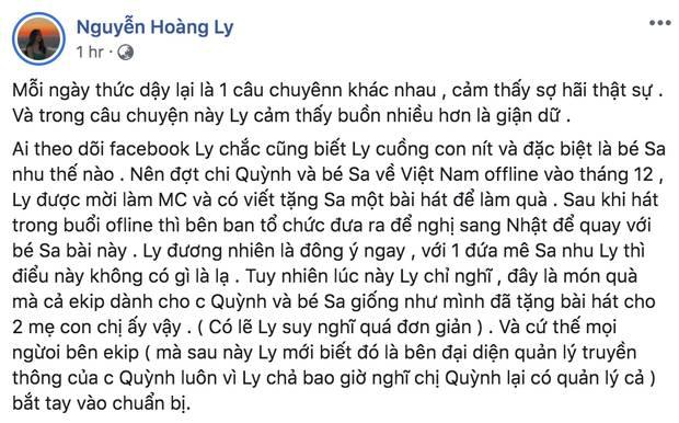 LyLy đáp trả ekip Quỳnh Trần JP việc bị tố vô trách nhiệm, cho rằng MV Chẳng thể rời Sa đã bị thương mại hoá và nghi ngờ có người tác động-1