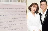 Sau scandal ly hôn, Lưu Hương Giang hạnh phúc khoe được Hồ Hoài Anh tặng chiếc nhẫn siêu bự kèm bức thư viết tay vô cùng ngọt ngào