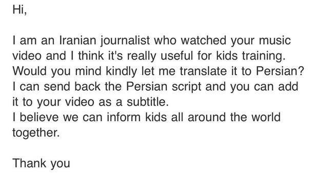 Ghen Cô Vy quá hot: Min chia sẻ email phóng viên người Iran xin phép được chuyển ngữ để thông tin đến trẻ em toàn thế giới!-2