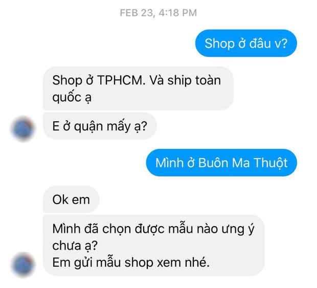 Lỡ hỏi 1 câu, cô gái bị chủ shop online nhắn tin không buông: Không mua thì hỏi làm gì? Shop đây mỗi ngày phốt 20-30 đứa!-1